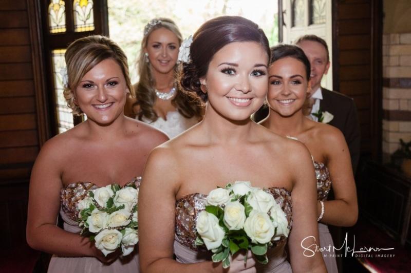 Bridesmaids at St John the Divine C of E Church