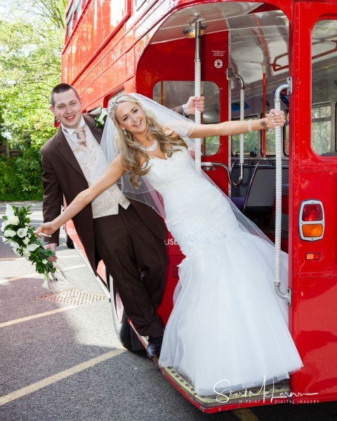 Double-decker bus at The Alderley Edge Hotel