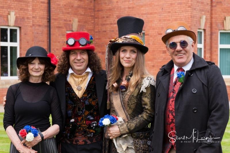 Steampunk wedding guests