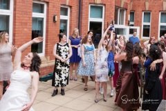 Catching the bouquet at Cheadle House