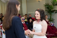 Wedding ceremony at Cheadle House