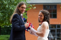 Bride and groom candid at Cheadle House