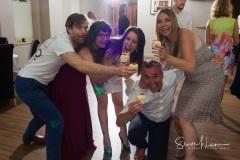 Sharing the wedding cake