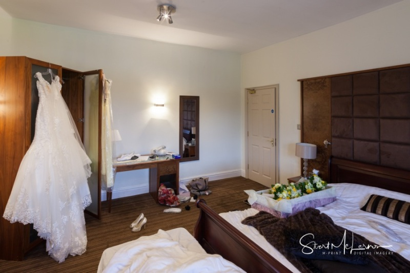 The bridal suite at Cranage Hall