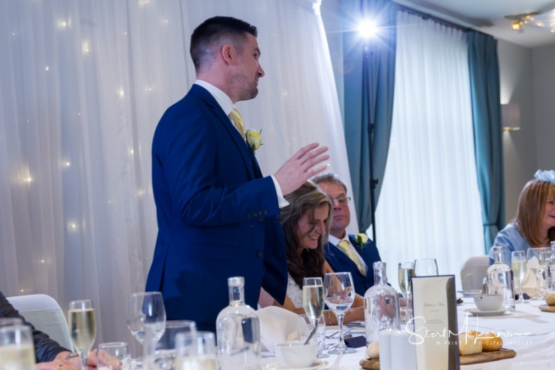 Grooms speech at Cranage Hall