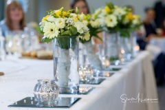 Table flowers at Cranage Hall