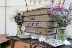 Custom wedding crate