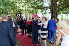 Wedding guests at church