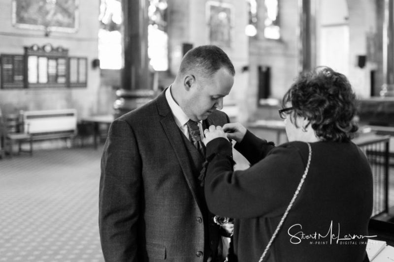 Pinning the buttonhole