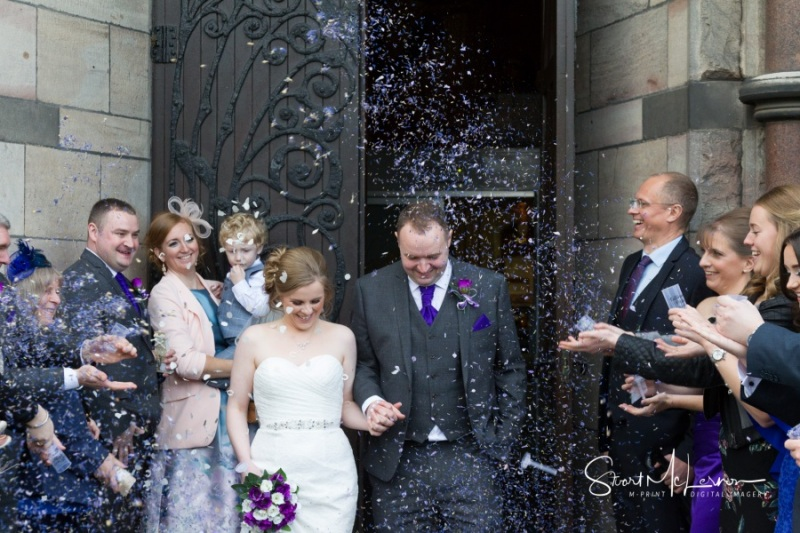 Confetti shower at St Mary's Lowe House