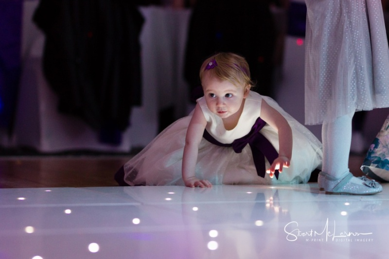 Dancefloor lights and children