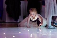 Dancefloor lights and children