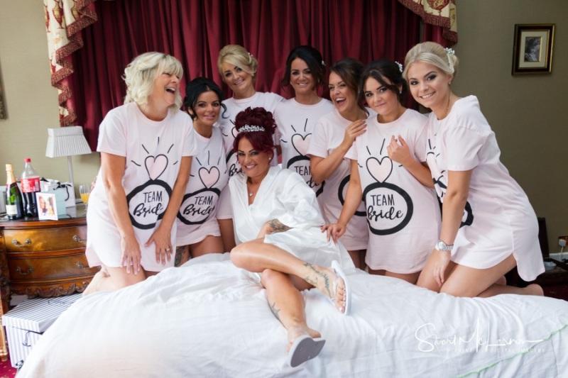 Seven bridesmaids