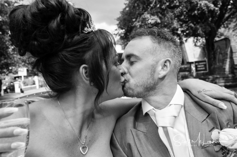 A kiss in a carriage