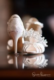 Wedding shoes, tiara and ring