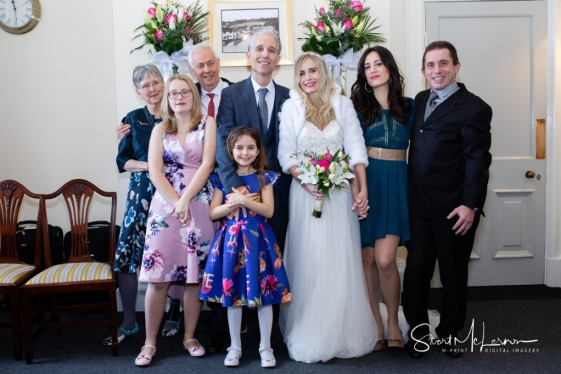 Intimate wedding at Stockport Town Hall