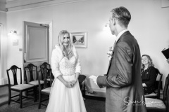 Bride and Groom exchange vows at Stockport Town Hall