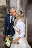 Bride and Groom kiss at Stockport Town Hall