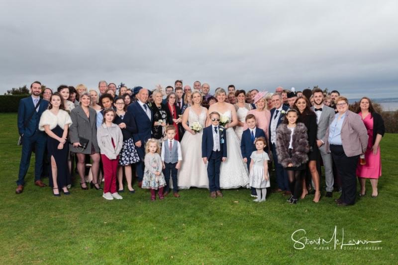 Forest Hills Hotel wedding group shot