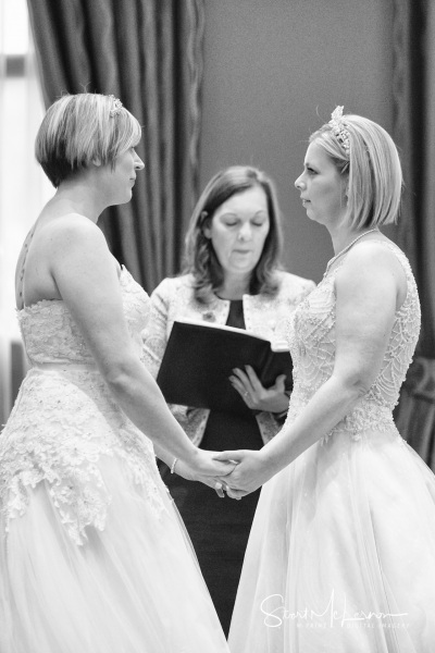 Wedding vows at The Forest Hills Hotel, Frodsham