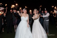 Group sparklers at The Forest Hills Hotel, Frodsham