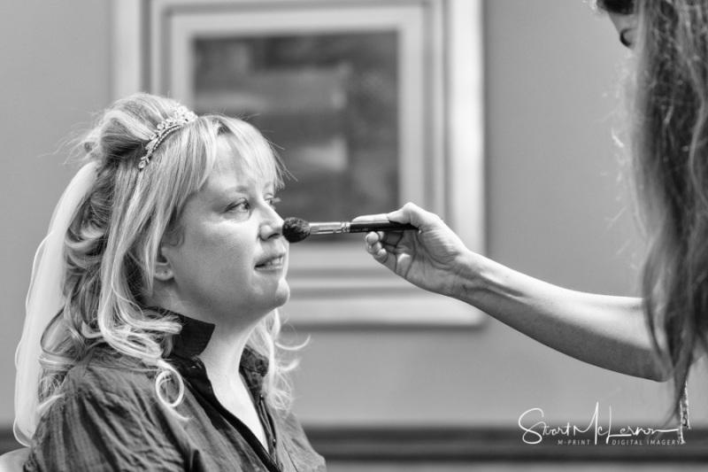 MUA applying makeup