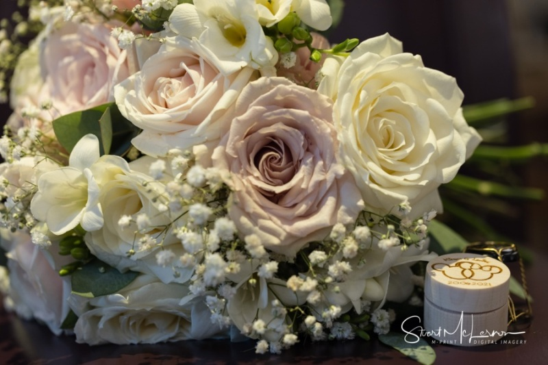 Bridal flowers and ring box