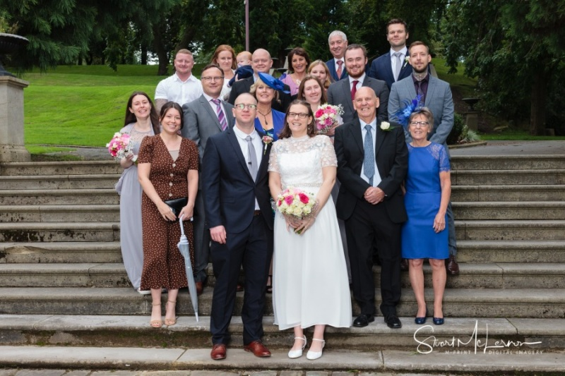 Dukinfield Park wedding guests