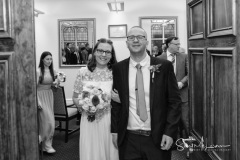 Just married at Dukinfield Town Hall