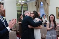 Dukinfield Town Hall hug and kiss