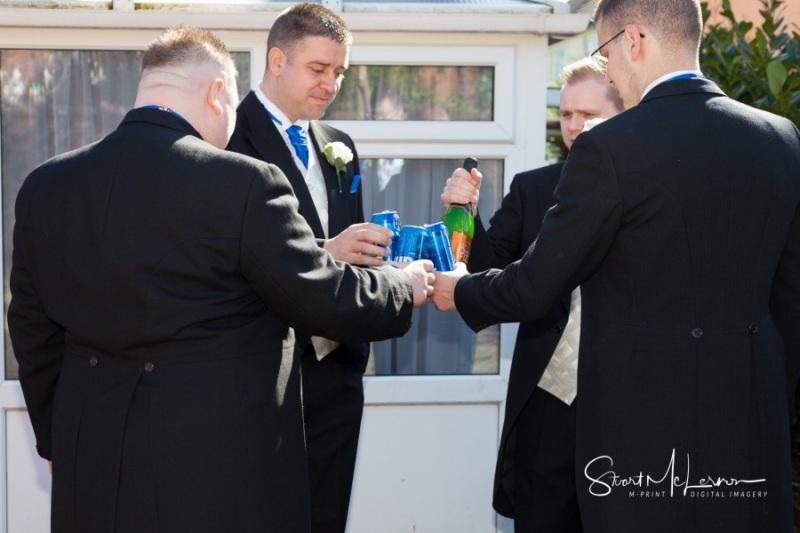 The groomsmen toast