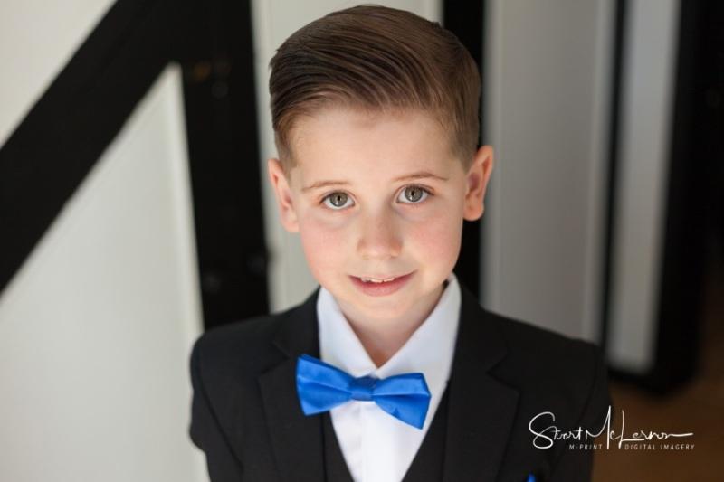 Page boy portrait